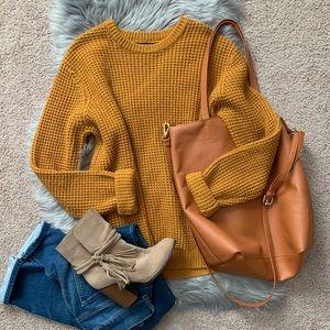 Honeycomb textured sweater